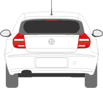 Afbeelding van Achterruit BMW 1-serie 3 deurs (DONKERE RUIT)