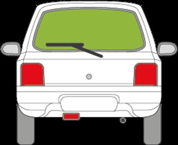 Afbeelding van Achterruit Suzuki Alto 3 deurs