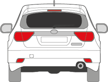 Afbeelding van Achterruit Subaru Impreza 5 deurs (DONKERE RUIT)