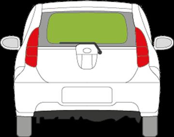 Afbeelding van Achterruit Subaru Justy 5 deurs