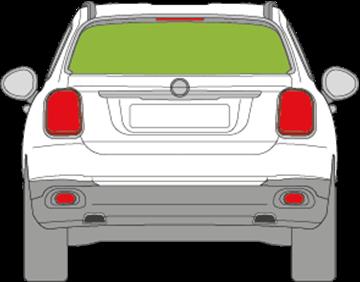 Afbeelding van Achterruit Fiat 500 X