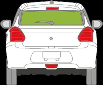 Afbeelding van Achterruit Suzuki Swift 5 deurs