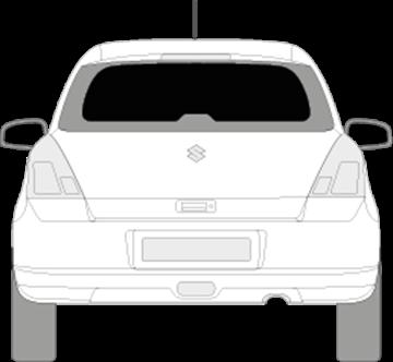 Afbeelding van Achterruit Suzuki Swift 3 deurs (DONKERE RUIT)