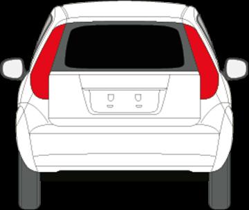 Afbeelding van Achterruit Suzuki Splash (DONKERE RUIT)