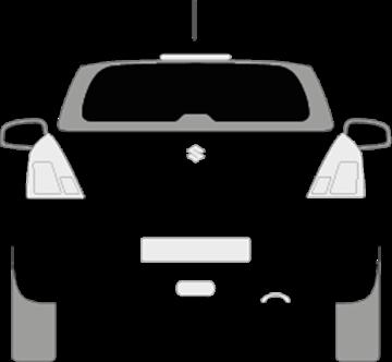 Afbeelding van Achterruit Suzuki Swift 5 deurs (DONKERE RUIT)