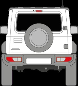 Afbeelding van Achterruit Suzuki Jimny 3 deurs (DONKERE RUIT)