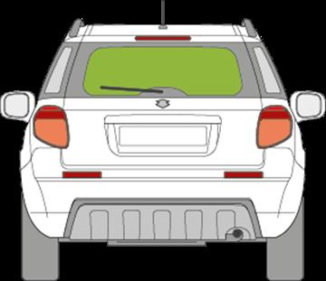 Afbeelding van Achterruit Suzuki SX4 5 deurs