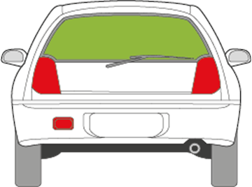 Afbeelding van Achterruit Mitsubishi Colt 3 deurs