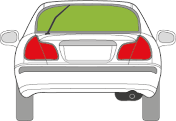 Afbeelding van Achterruit Mitsubishi Carisma 5 deurs (1995-1999)