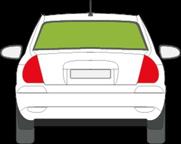 Afbeelding van Achterruit Hyundai Accent 3 deurs