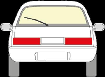 Afbeelding van Achterruit Suzuki Swift 3 deurs