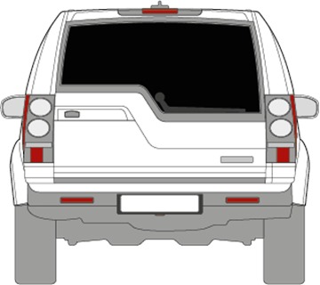 Afbeelding van Achterruit Discovery (DONKERE RUIT)