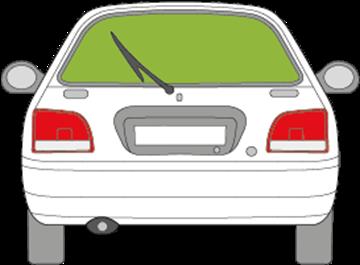 Afbeelding van Achterruit Suzuki Baleno 3 deurs