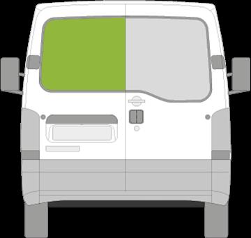 Afbeelding van Achterruit links Nissan Interstar zonder ontdooiing