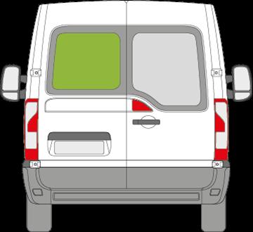 Afbeelding van Achterruit links Renault Master zonder ontdooiing