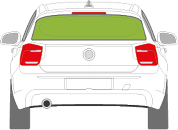 Afbeelding van Achterruit BMW 1-serie 5 deurs